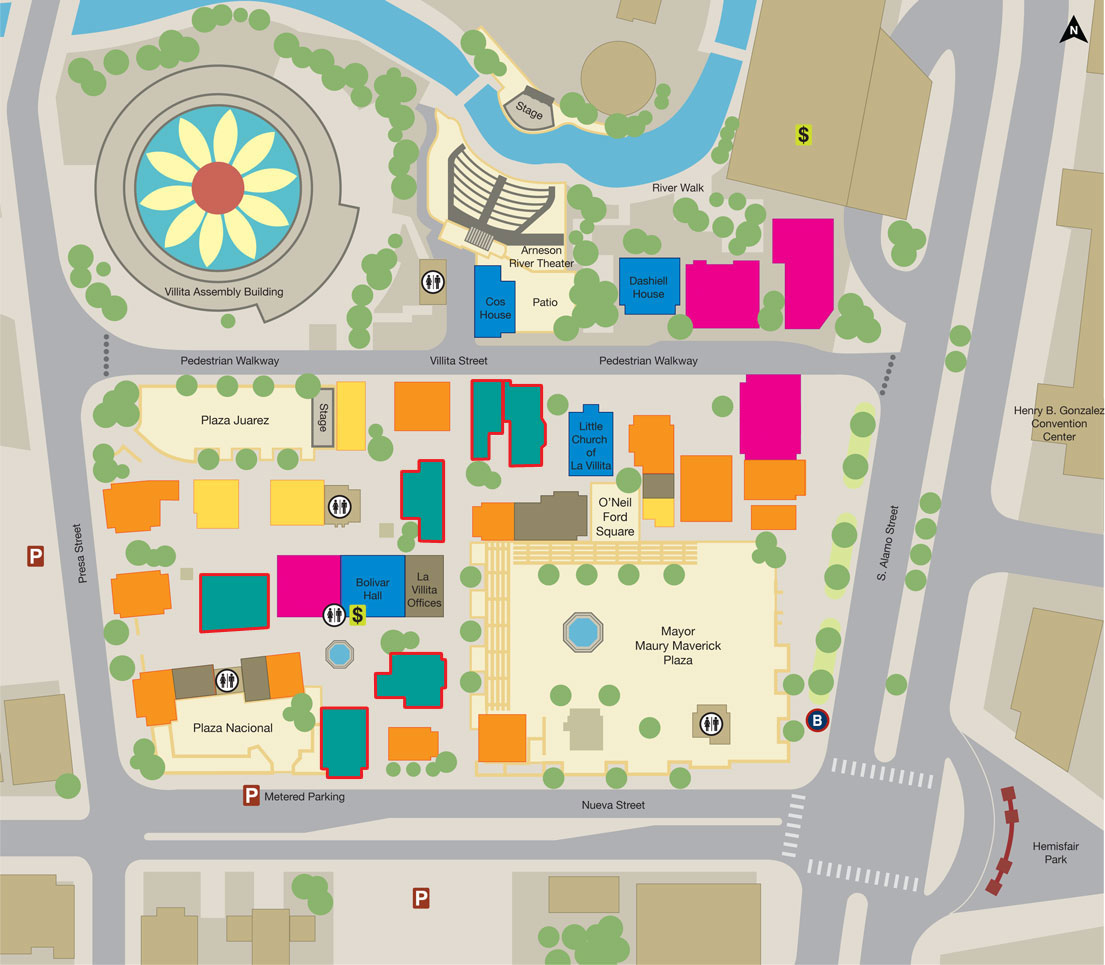 Get Creative Gt Explore San Antonio Gt La Villita Gt Map
