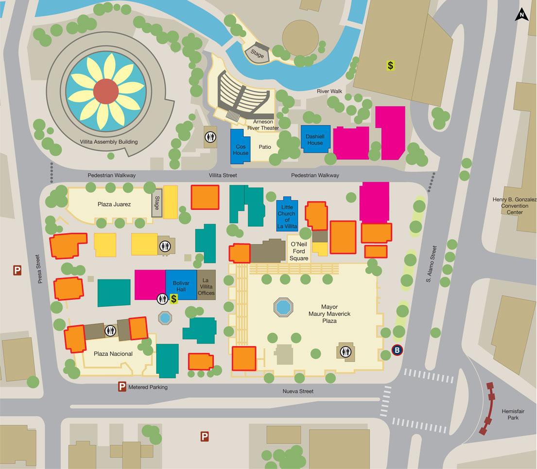 San Antonio Market Square Map | www.imagessure.com