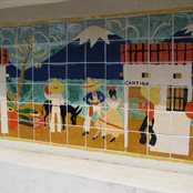 Maverick Tile Mural
