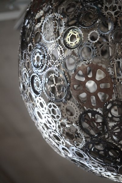 """Ballroom Luminoso"" is made from recycled bike parts."