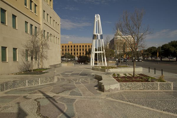 """Unity Plaza"" is an urban placemaking project."