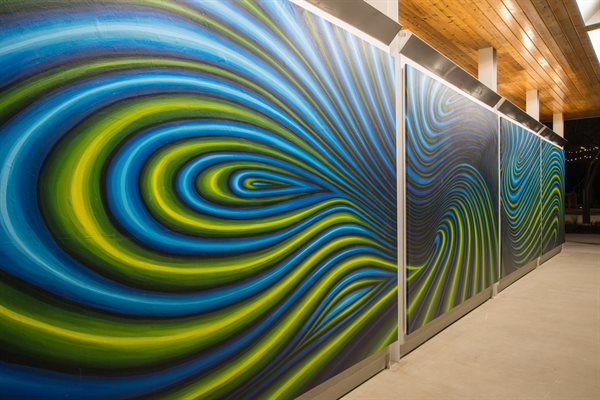 """Yanaguana"" is a 40 foot-long abstract composition."