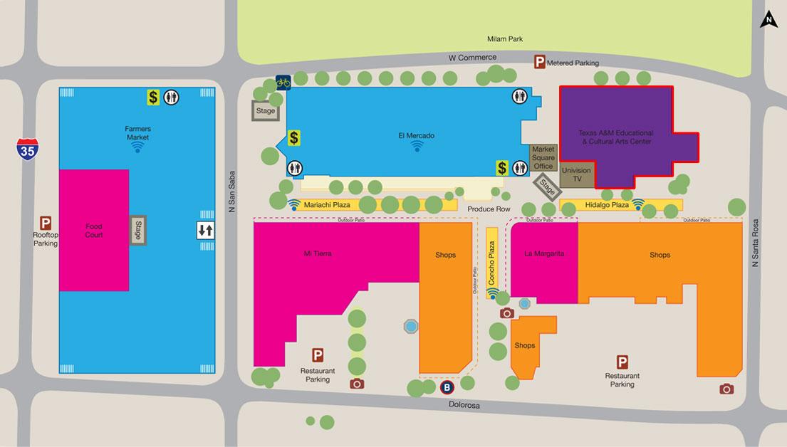 Get Creative > Explore San Antonio > Market Square > Map Directory